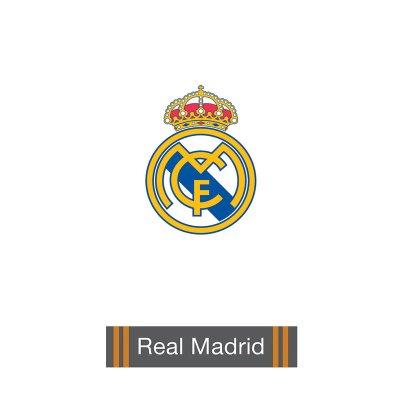 Toalla microfibra blanca Real Madrid 70x140cm