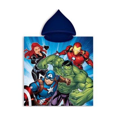Poncho toalla con capucha microfibra Los Vengadores Marvel