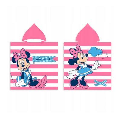 Poncho toalla con capucha microfibra Happy Minnie