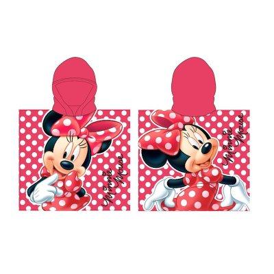 Poncho toalla con capucha microfibra Happy Minnie Disney