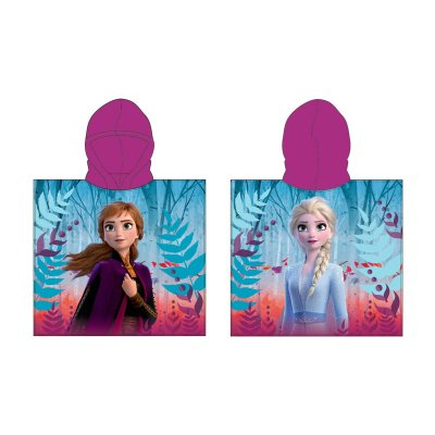 Poncho toalla con capucha microfibra Frozen 2 Ana & Elsa
