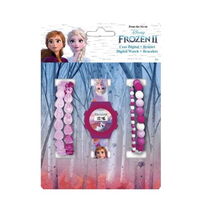 Set reloj digital y 4 pulseras de Frozen 2 Disney
