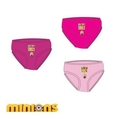Pack 3 slips de niña Minions - modelo 2