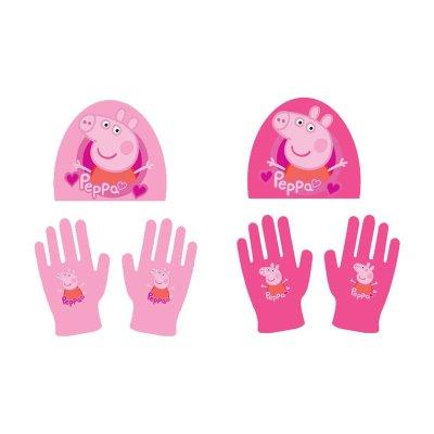 Set gorro guantes infantiles Peppa Pig 2 modelos