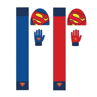 Set gorro bufanda guantes Superman 2 modelos