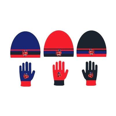 Set gorro guantes Ladybug 3 modelos
