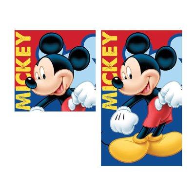 Set 2 toallas cara y manos microfibra Mickey Mouse