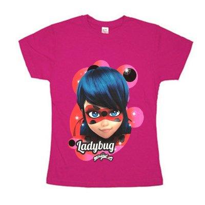 Camiseta rosa Prodigiosa Ladybug (Miraculous) 6 tallas