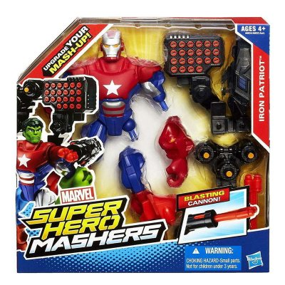Figura Iron Patriot Marvel Super Hero Mashers