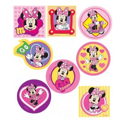 Parches impresos Minnie cuadrados y redondos - Ref. 6664C