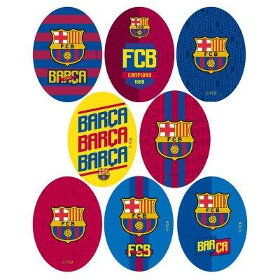 Parches impresos F.C. Barcelona ovalados - Ref. 6763C