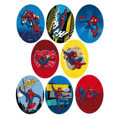 Parches impresos Spiderman ovalados - Ref. 6797C