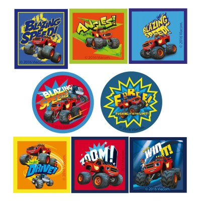 Parches impresos Blaze and The Monster Machine cuadrados y redondos - Ref. 6810C