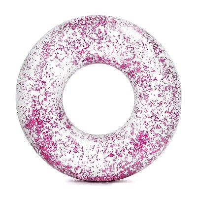 Flotador rueda hinchable Glitter - rosa