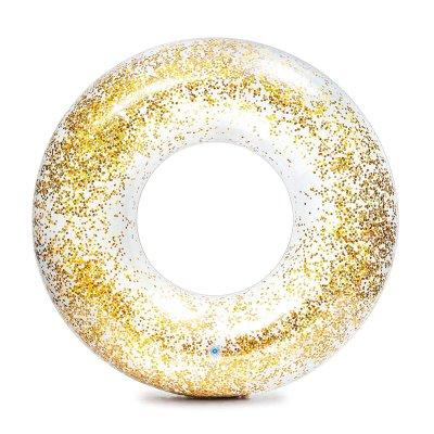 Flotador rueda hinchable Glitter - oro