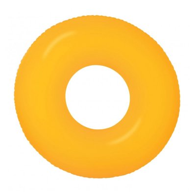 Flotador rueda hinchable piscina Neón - naranja