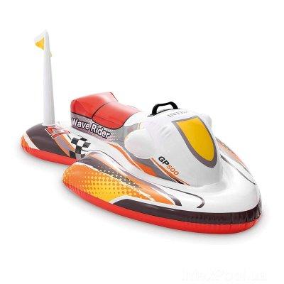 Hinchable Moto Ride-on acuático - rojo
