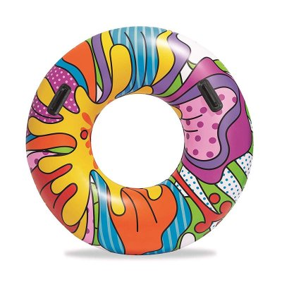 Wholesaler of Flotador rueda hinchable piscina multicolor Flower