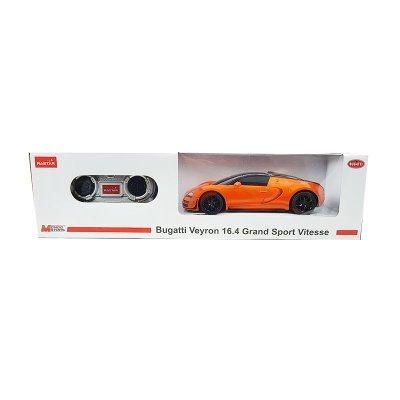 Coche Radio Control Bugatti Veyron 16.4 GSV Naranja 1:24 Rastar