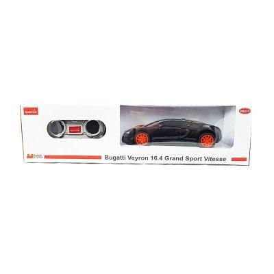 Coche Radio Control Bugatti Veyron 16.4 GSV Negro 1:24 Rastar