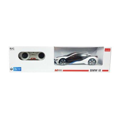 Coche Radio Control BMW i8 Blanco 1:24 Rastar