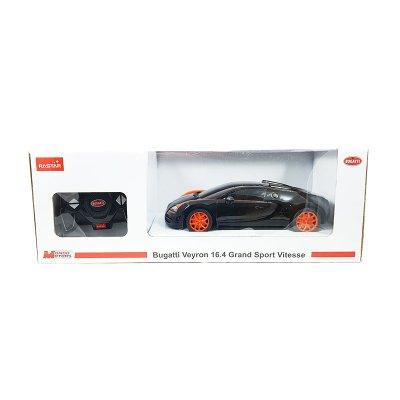 Coche Radio Control Bugatti Veyron 16.4 GSV Negro 1:18 Rastar