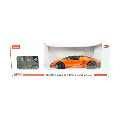 Coche Radio Control Bugatti Veyron 16.4 GSV Naranja 1:18 Rastar