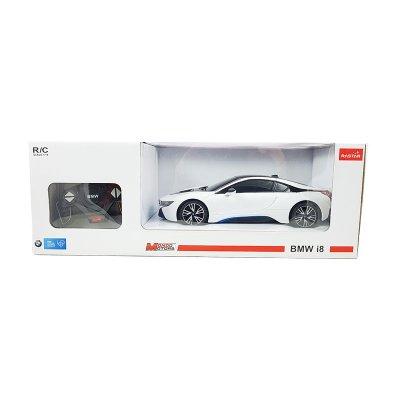 Coche Radio Control BMW i8 Blanco 1:18 Rastar