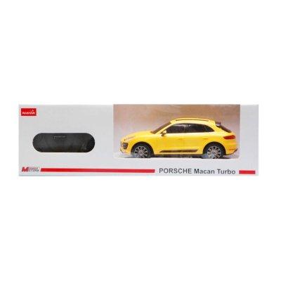 Coche Radio Control Porsche Macan Turbo Amarillo 1:24 Rastar