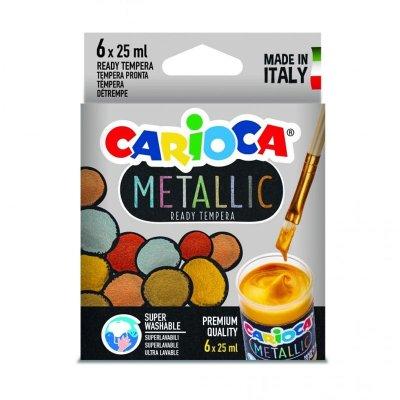 Wholesaler of Set de 6 temperas Carioca Tempera Metallic