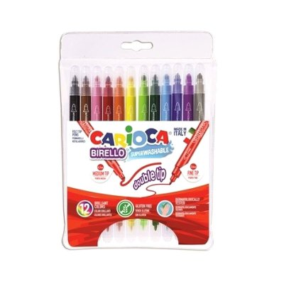 Pack 12 Rotuladores Carioca Double Tip