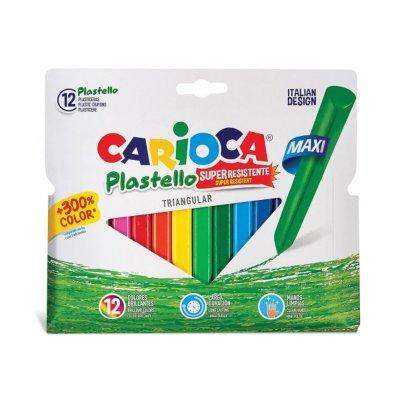 Plasticeras Carioca Triangular Maxi 12 colores