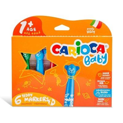 Caja 6 rotuladores Teddy Markers Carioca Baby
