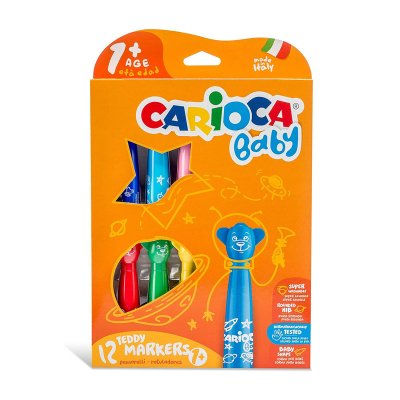 Caja 12 rotuladores Teddy Markers Carioca Baby