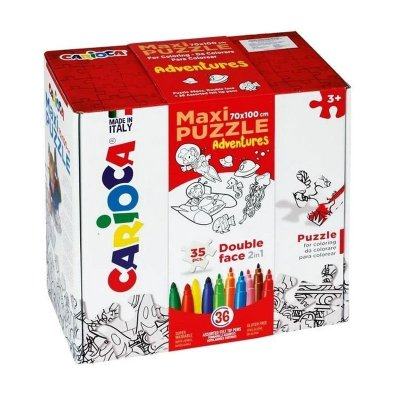 Wholesaler of Maxi Puzzle Colorear Adventures Carioca 35pcs