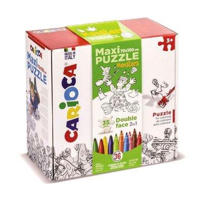 Wholesaler of Maxi Puzzle Colorear Monsters Carioca 35pcs