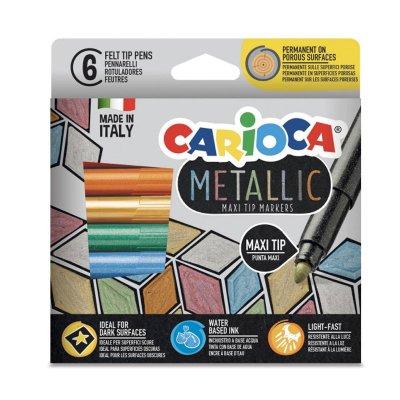 Wholesaler of Set 6 rotuladores Carioca Metallic Maxi Tip