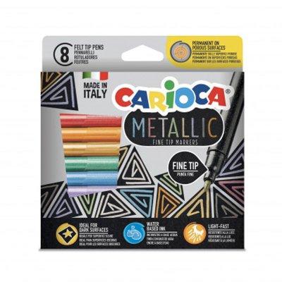 Set 8 rotuladores Carioca Metallic Fine Tip