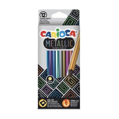 Set 12 lápices Carioca Metallic