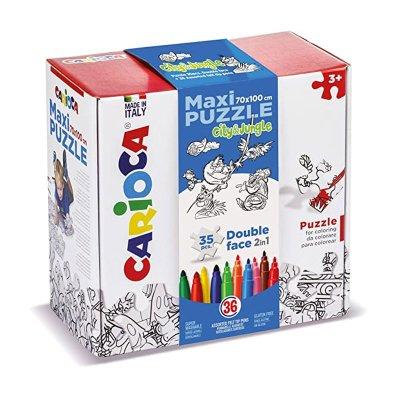 Wholesaler of Maxi Puzzle Colorear City & Jungle Carioca 35pcs