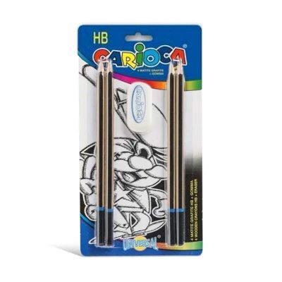 Wholesaler of Set de 4 lápices c/goma HB Carioca