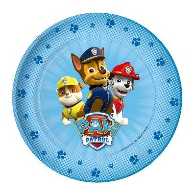 8 platos desechables 22cm Paw Patrol Boys