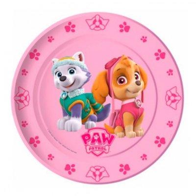 8 platos desechables 22cm Paw Patrol Girls