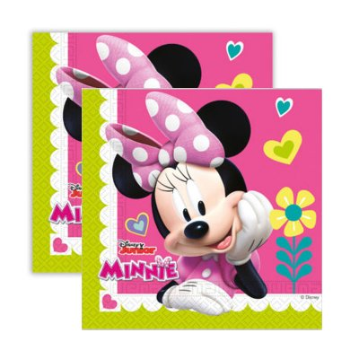 Paquete 20 servilletas 33x33cm Minnie Disney