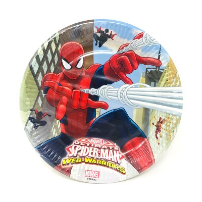 8 platos desechables 23cm Spiderman Ultimate Web Warriors