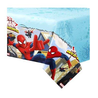 Mantel de mesa de plástico 120x180cm Spiderman Web Warriors