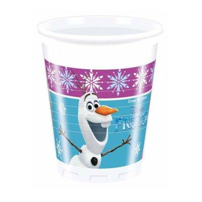 8 vasos de plástico desechables 200ml Frozen Disney