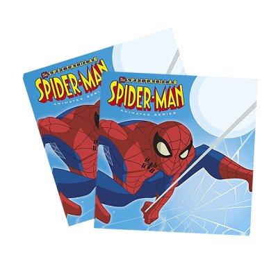 Paquete de 20 servilletas 33x33cm Spiderman