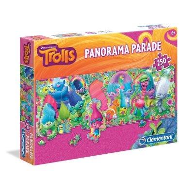 Puzzle Trolls Panorama Parade 250 piezas