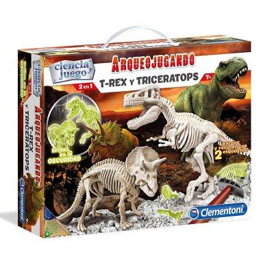 Juego Educativo Arqueo Jugando T-Rex y Triceratops